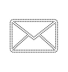 letter sign black dashed vector image