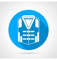 Life jacket round icon vector