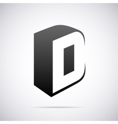 logo for letter D Design template vector image