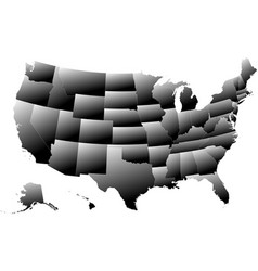 Map united states america - 3d effect vector