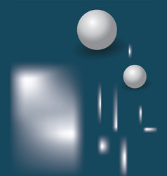 marine blue abstract background with 3d balls a vector image