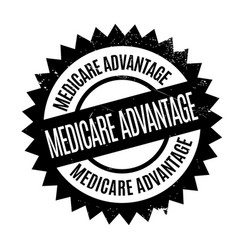 medicare advantage rubber stamp vector image