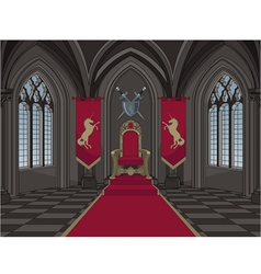 Medieval Castle Throne Room vector