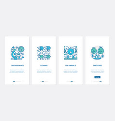 microbiology genome science research ux ui vector image