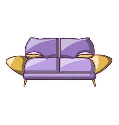 mini sofa icon cartoon style vector image