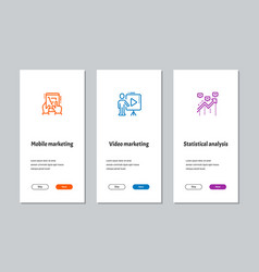 mobile marketing video marketing statistical vector image