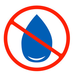 No water resistant no waterproor do not drink vector