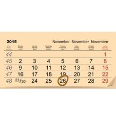 November 26 2015 Thanksgiving Day Chicken leg vector