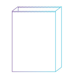 paper bag icon in degraded purple to blue color vector image