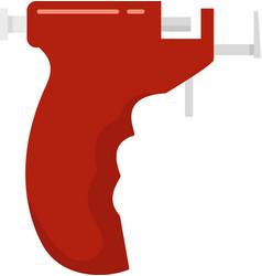 Piercing pistol icon flat isolated vector