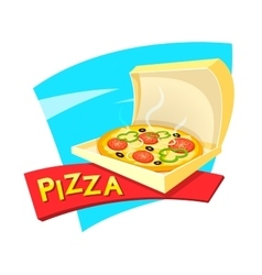 Pizza concept design vector image