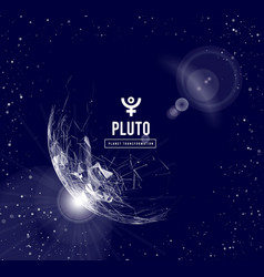 Pluto the planet responsible in astrology vector