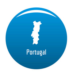 portugal map in black simple vector image