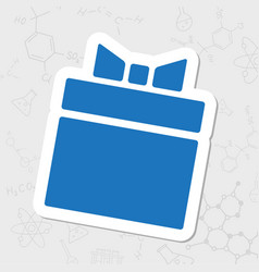 Present icon vector
