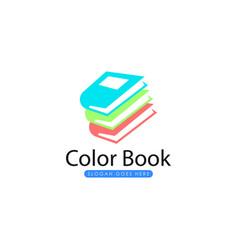 printbook logo template vector image