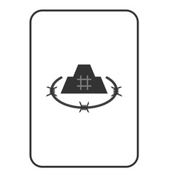 Prison citadel playing card vector