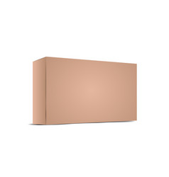Realistic brown empty cardboard package box vector