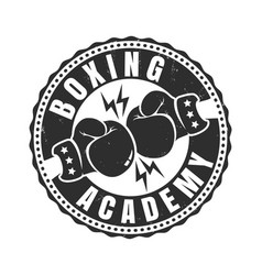 retro sport logo for boxing academy vector image