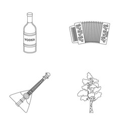 Russia country vodkaaccordion russia country vector