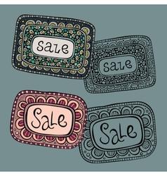 Sale Nature Labels vector