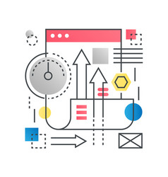 seo search engine optimization web development vector image