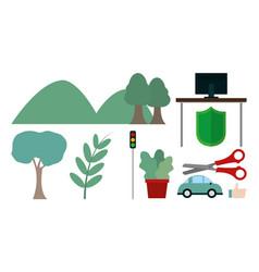 Set of city elements vector
