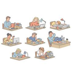 Set various students vector