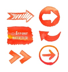 set watercolor arrows vector image