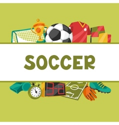 Sports background with soccer football symbols vector