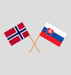 The slovakian and norwegian flags vector