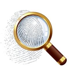Thumbprint examination vector