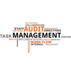 Word cloud - audit management vector