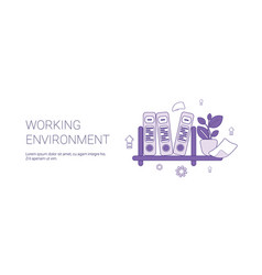 Working environment workplace concept template web vector