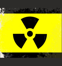 worn radioactive warning symbol vector image