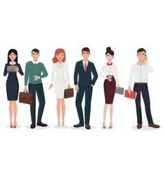 young office detailed business people vector image