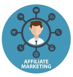 icon of affiliate marketing in vector image vector image