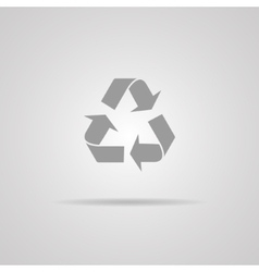 recycle sign or icon vector image vector image