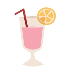 Cocktail glass vector image