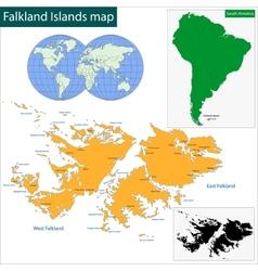 Falkland Islands map world Royalty Free Vector Image