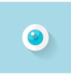 Flat web icon Eye vector image vector image