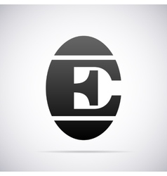 logo for letter E Design template vector image vector image
