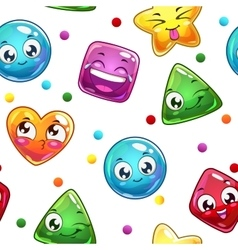 Seamless pattern with funny colorful faces vector image vector image