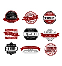 Set of labels for design vector image vector image