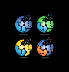 ball dna logo vector image