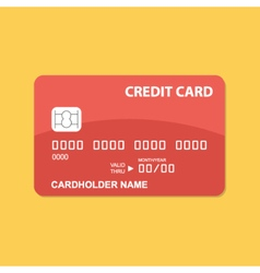 Flat design credit card vector image vector image