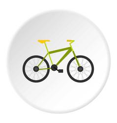 green bike icon circle vector image vector image