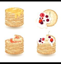 pancake vector image vector image