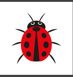 simple of red ladybug vector image