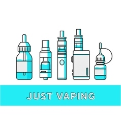 Vaping icons collection vector image vector image