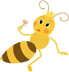 a cute queen bee vector image vector image